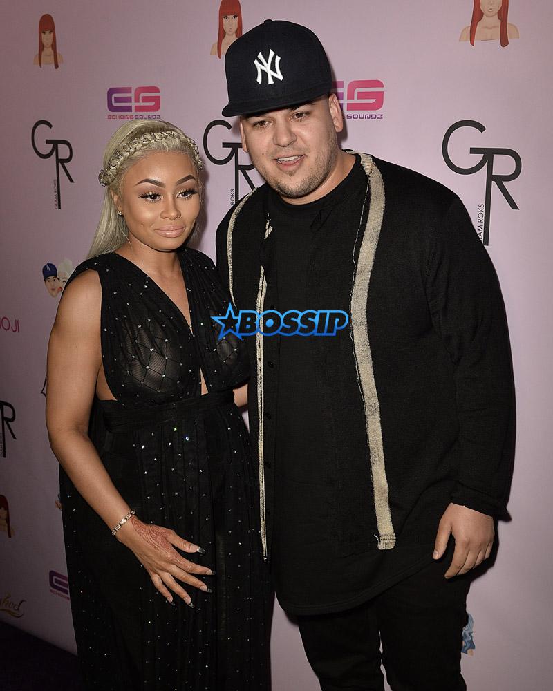 AKM-GSI Rob Kardashian and Blac Chyna Birthday Chymoji Collection Unveiling Hard Rock Cafe