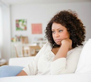 Black Woman worrying