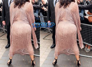 Splash News Kim Kardashian leaving Royal Geographical Society in London with partner, Kanye West, after attending a Conde Nast talk. Carla DiBello