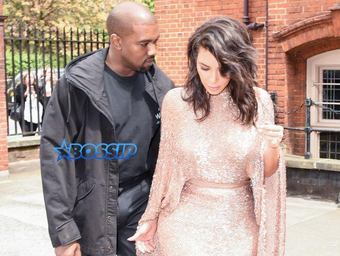 SplashNews Kim Kardashian West and Kanye West Vogue Festival in London, England.