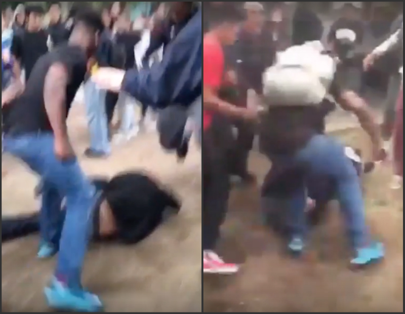 LA high school lunchtime brawl
