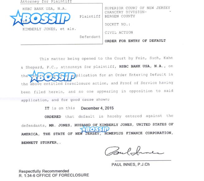 lil kim in foreclosure default document