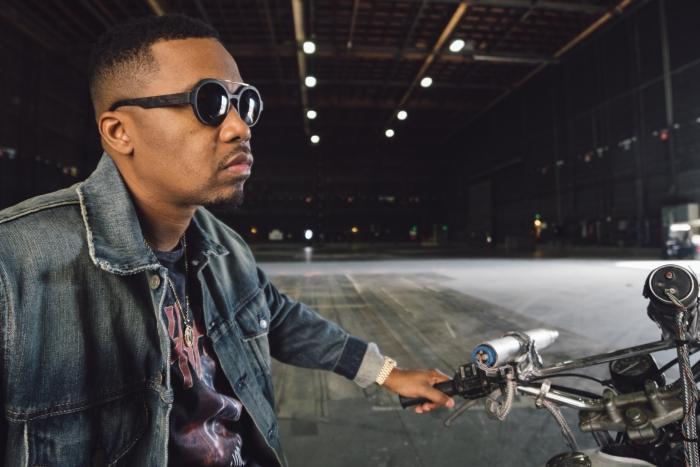 Nas wearing Italia Independent x Ghostbusters sunglasses 01