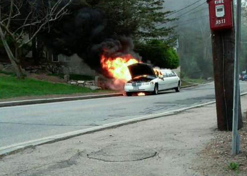 Prom Limo Catches Fire