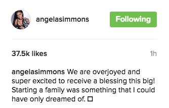 Angela Simmons Instagram