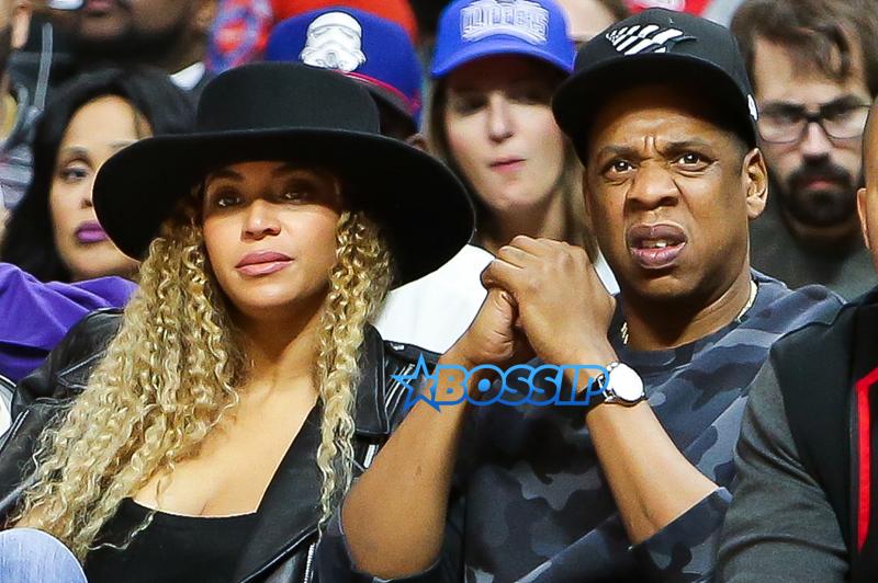 SplashNews Jay Z Beyonce at Clippers vs OKC Thunder game
