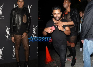 SplashNews EJ Johnson bodysuit fishnets possible boyfriend