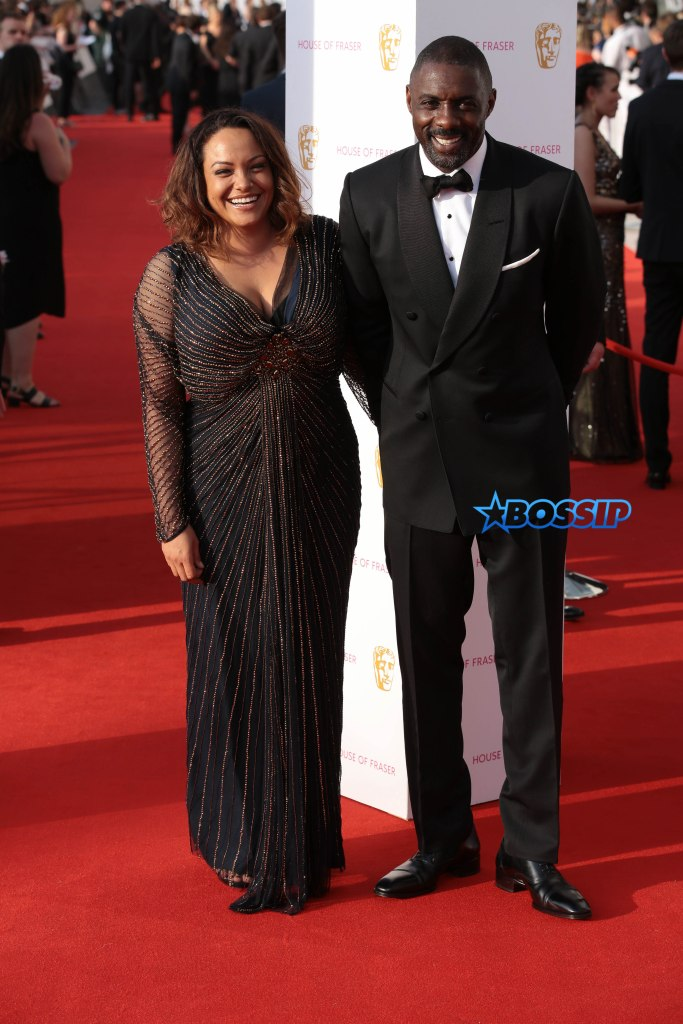 The House Of Fraser British Academy Television Awards 2016 at the Royal Festival Hall Pictured: Idris Elba and Naiyana Garth Ref: SPL1275635 080516 Picture by: Jeff Moore / Splash News Splash News and Pictures Los Angeles:310-821-2666 New York:212-619-2666 London:870-934-2666 photodesk@splashnews.com
