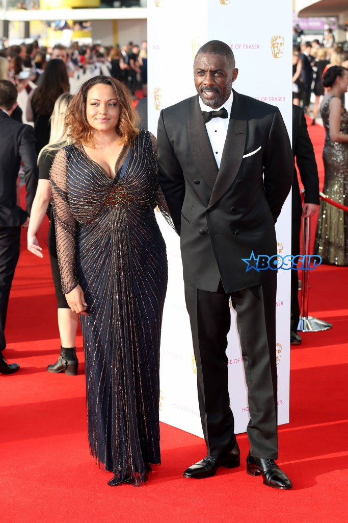 MANDATORY BYLINE: Jon Furniss / Corbis Idris Elba attends the House Of Fraser British Academy Television Awards 2016 at the Royal Festival Hall on London on 8th May 2016. Pictured: Idris Elba; Naiyana Garth Ref: SPL1277969 080516 Picture by: Jon Furniss / Corbis Splash News and Pictures Los Angeles:310-821-2666 New York:212-619-2666 London:870-934-2666 photodesk@splashnews.com