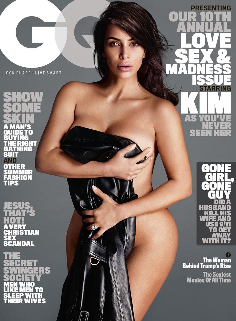 Kim Kardashian first GQ cover shot by Mert Alas and Marcus Piggott