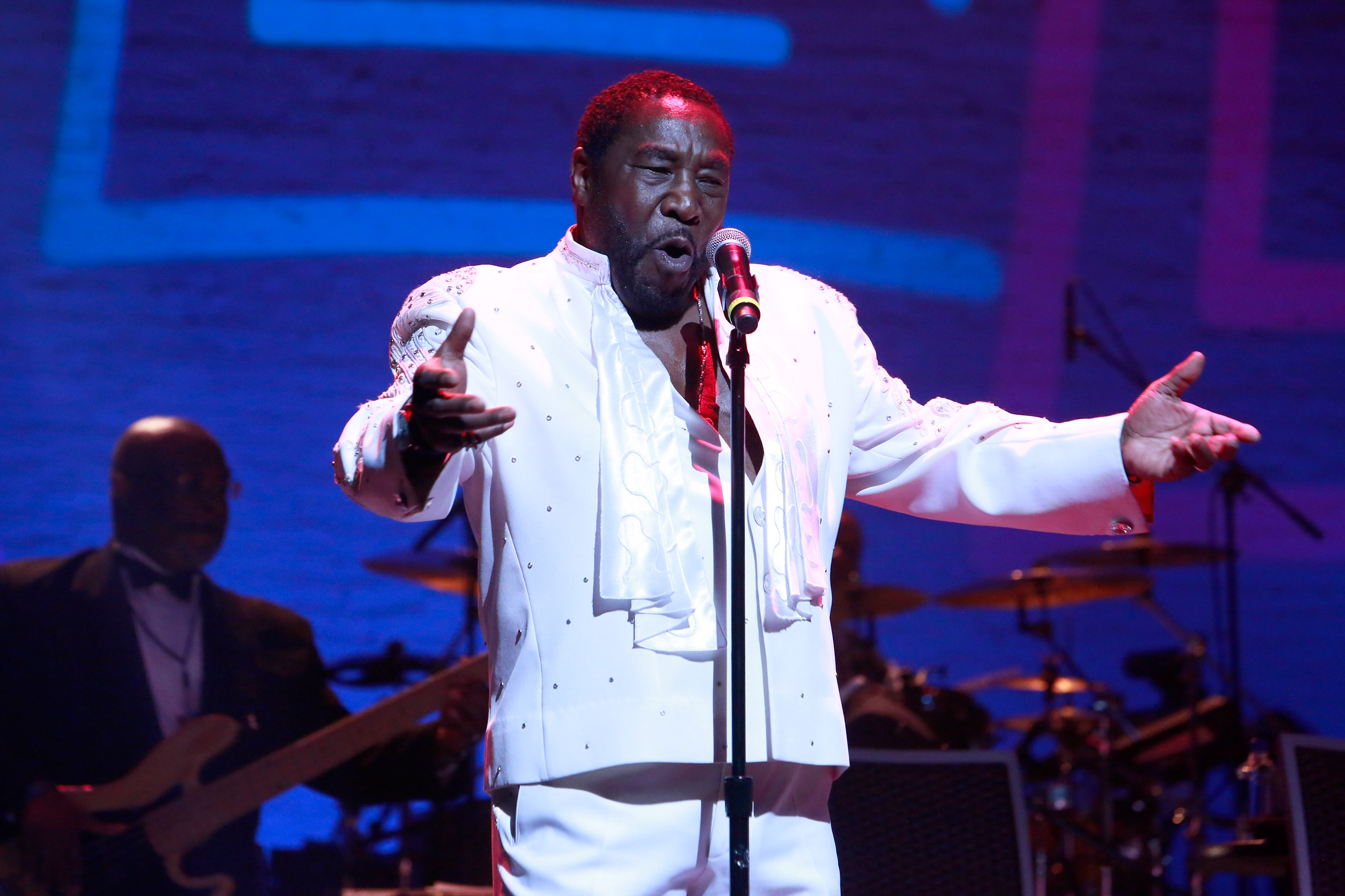 NEW YORK, NY - JUNE 13: Eddie Levert of The O'Jays preforms during Prince Walk of Fame Induction and 2016 Spring Gala at The Apollo Theater on June 13, 2016 in New York City. (Photo by Shahar Azran/WireImage)