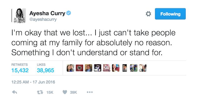 Ayesha Curry tweets NBA rigged 4