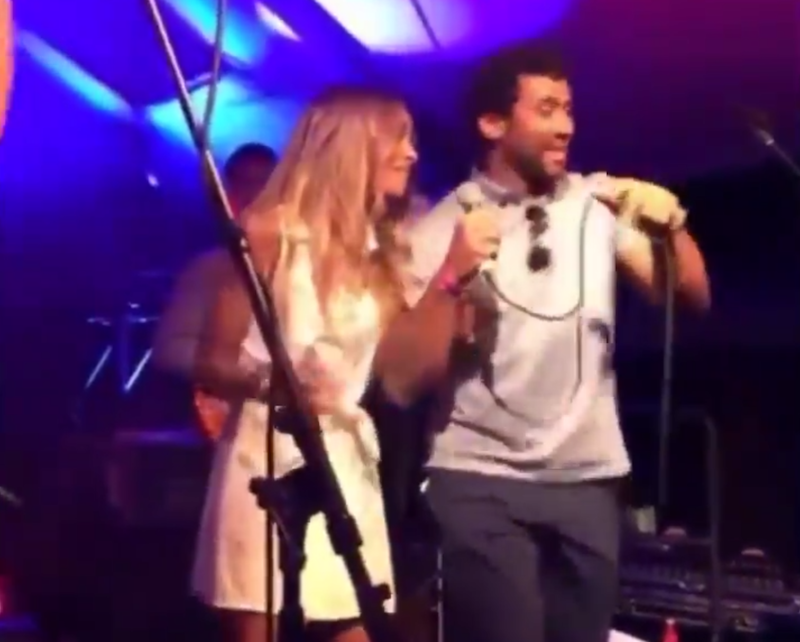 Ciara and Russell Wilson sing Michael Jackson