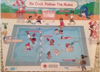 Racist American Red Cross Pool Safety Poster