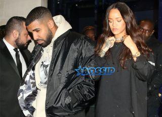 SplashNews Rihanna Drake Tramps Private Members Club in Mayfair, London.