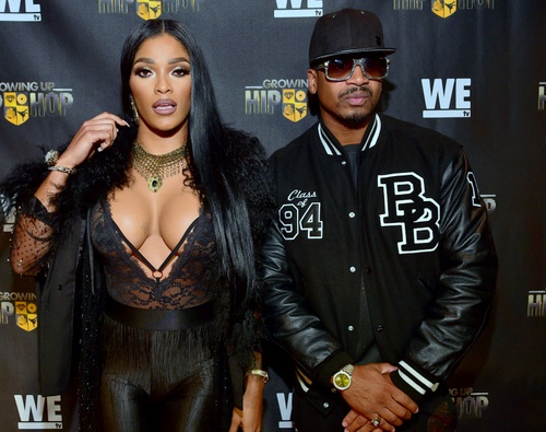 """ATLANTA, GA - JANUARY 05: Joseline Hernandez and Stevie J attend the ATL Premiere of WE Tv's """"Growing Up Hip Hop"""">> at SCADshow on January 5, 2016 in Atlanta, Georgia. (Photo by Prince Williams/WireImage)"""