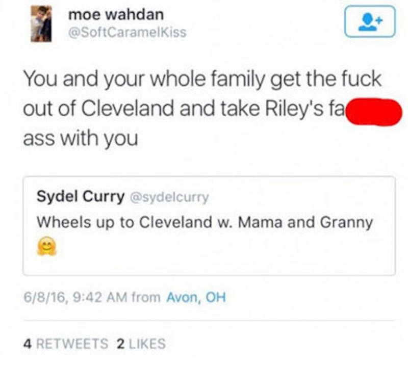 Moe Wahdan Riley Curry tweet