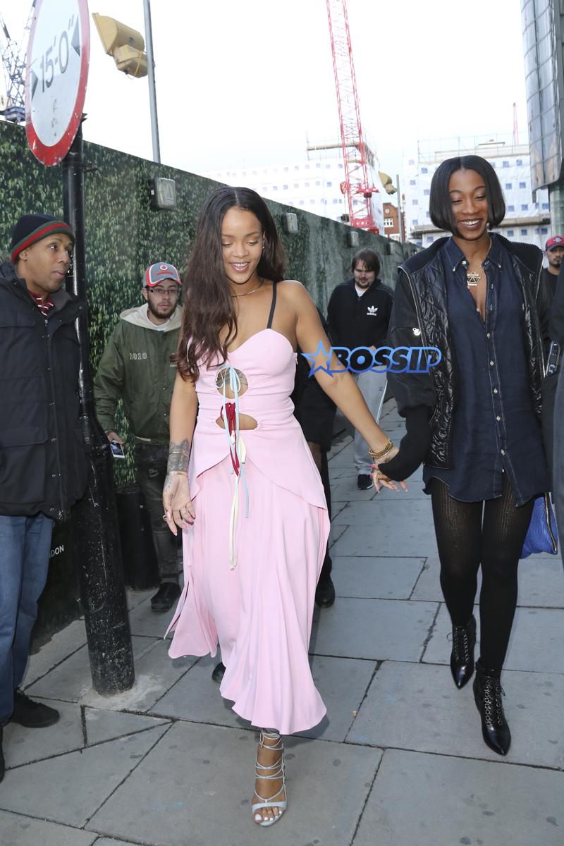 pink dress ferrari jacket SplashNews Rihanna Drake  surprise party at Tape nightclub in London for Nicole Scherzinger birthday leave at 6 am
