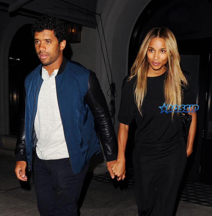 Ciara and Russell Wilson dine at Craig's Restaurant
