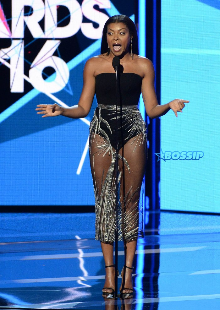 The Roots and Bilal perform on the 2016 BET Awards at the Microsoft Theatre on June 26, 2016, in Los Angeles, California. Pictured: Taraji P. Henson Ref: SPL1309619 270616 Picture by: PG / Splash News Splash News and Pictures Los Angeles:310-821-2666 New York:212-619-2666 London:870-934-2666 photodesk@splashnews.com