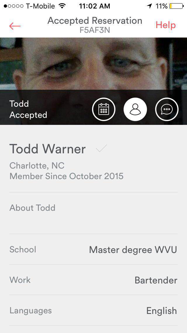 Todd Warner Racist Air BNB