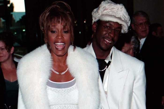 WHITNEY HOUSTON, BOBBY BROWN & THEIR DAUGHTER  AT THE 1998 ARTS AWARDS IN LOS ANGELES. 10/10/98 When: 10 Oct 1998 Credit: WENN / MARCUS HOFFMAN