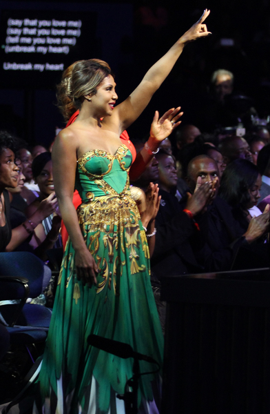 Singer and honoree Toni Braxton enjoys the 13th Annual McDonald's 365 Black Awards at the Ernest Moral Convention Center in New Orleans, LA on Friday, July 1, 2016.