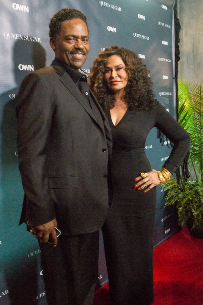 """NEW ORLEANS, LA - JULY 02: Richard Lawson (L) and Tina Knowles Lawson attend a cocktail reception for """"Queen Sugar"""" at Liberty Kitchen on July 2, 2016 in New Orleans, Louisiana. (Photo by Josh Brasted/Getty Images for OWN: Oprah Winfrey Network) *** Local Caption *** Richard Lawson; Tina Knowles Lawson"""