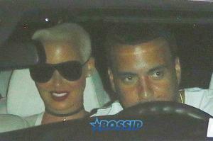 Amber Rose French Montana's ride Nobu. Khloe Kardashian's ex. AKM-GSI 4 JULY 2016