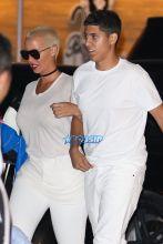 Amber Rose French Montana's ride Nobu. Khloe Kardashian's ex. AKM-GSI 4 JULY 2016