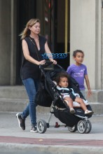 AKM-GSI Ellen Pompeo Chris Ivery Lunch Bar Pitti daughters Stella Luna and Sienna May