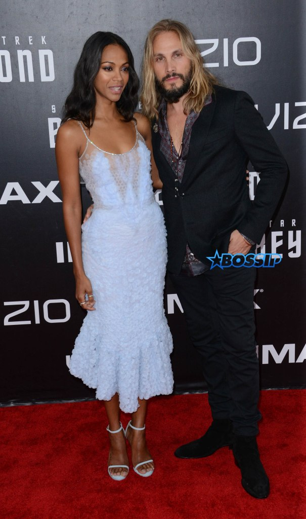 ** RESTRICTIONS: ONLY UNITED STATES, AUSTRALIA, NEW ZEALAND ** San Diego, CA - San Diego, CA - Zoe Saldana and Marco Perego attend the premiere of Paramount Pictures' 'Star Trek Beyond' at Embarcadero Marina Park South in San Diego, California AKM-GSI 20 JULY 2016 To License These Photos, Please Contact : Maria Buda (917) 242-1505 mbuda@akmgsi.com or Mark Satter (317) 691-9592 msatter@akmgsi.com sales@akmgsi.com