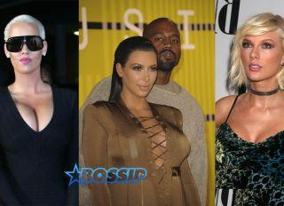 WENN Kim Kardashian Kanye West Amber Rose Taylor Swift