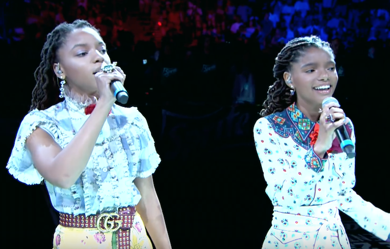 Chole x Halle National Anthem BET Experience