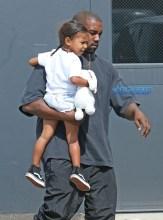 FameFlynetPIctures Kanye West North West Kourtney Kardashian Penelope Mason Disick Sky High Sports Trampoline Park