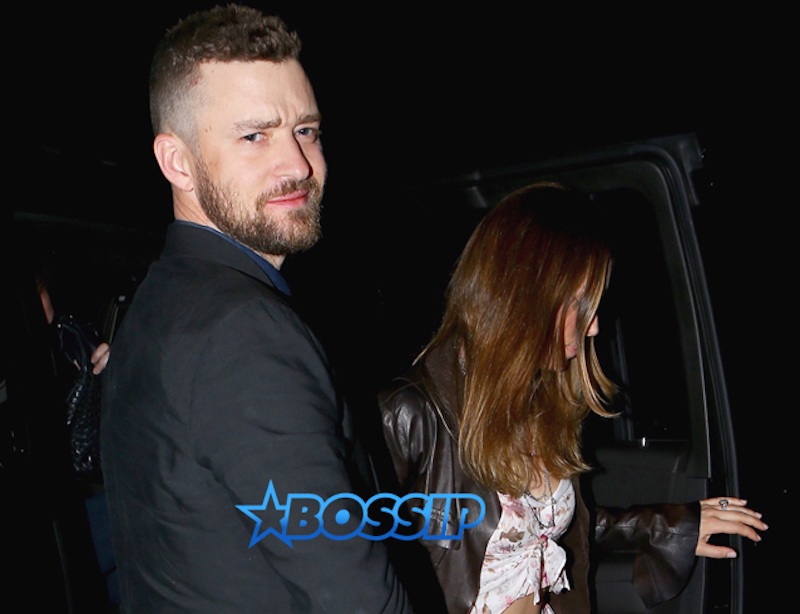 Justin Timberlake & Jessica Biel attend the annual William Morris Endeavor pre-Oscar party at a private residence in Los Angeles.