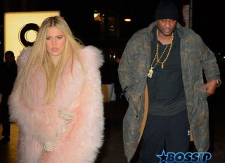 Khloe Kardashian and Lamar Odom exit Estiatorio Milos together after enjoying dinner with Kris Jenner and her man Cory Gamble, Kourtney Kardashian and her dad Caitlyn Jenner. The group filmed a few scenes for their famous Reality Show while eating. This is the first time Lamar Odom is seen out and about e since his drug overdose. AKM-GSI 12 FEBRUARY 2016