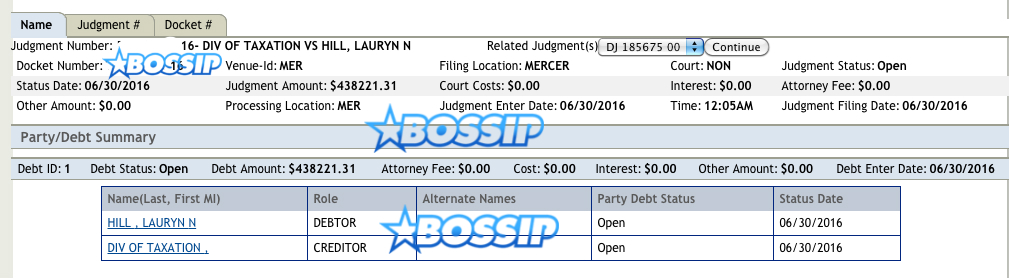 Lauryn Hill hit with a tax lien