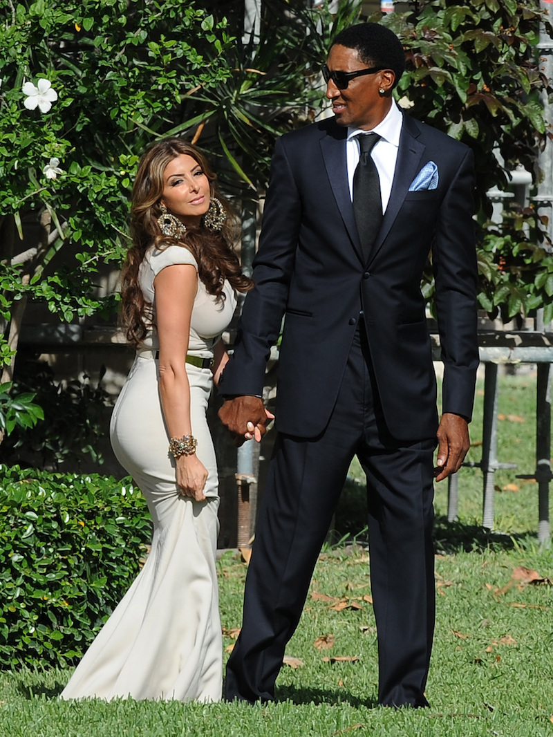 Guests attend the wedding ceremony of Michael Jordan and Yvette Prieto, held at the Bethesda-by-the-Sea Episcopal Church
