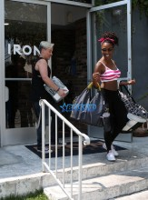 Iron Gym Torri Shack WENN Shanola Hampton Shameless black actress dreadlocks V