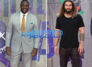 Actors Adewale Akinnuoye-Agbaje and Jason Mamoa attend Suicide Kings European Premier