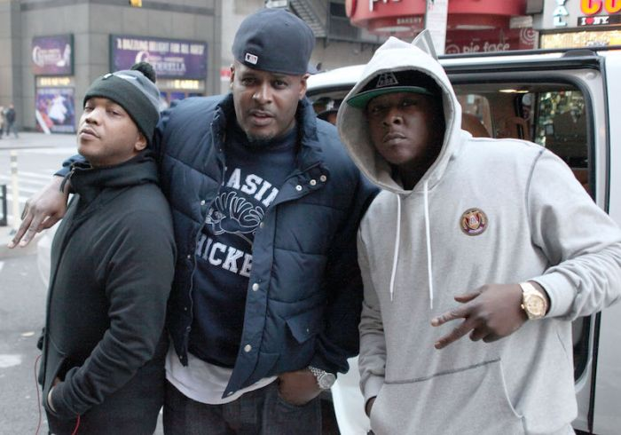 The Lox film on a street in New York