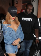 Rihanna Arrives At Club Tape