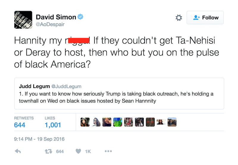david-simon-n-word-tweet