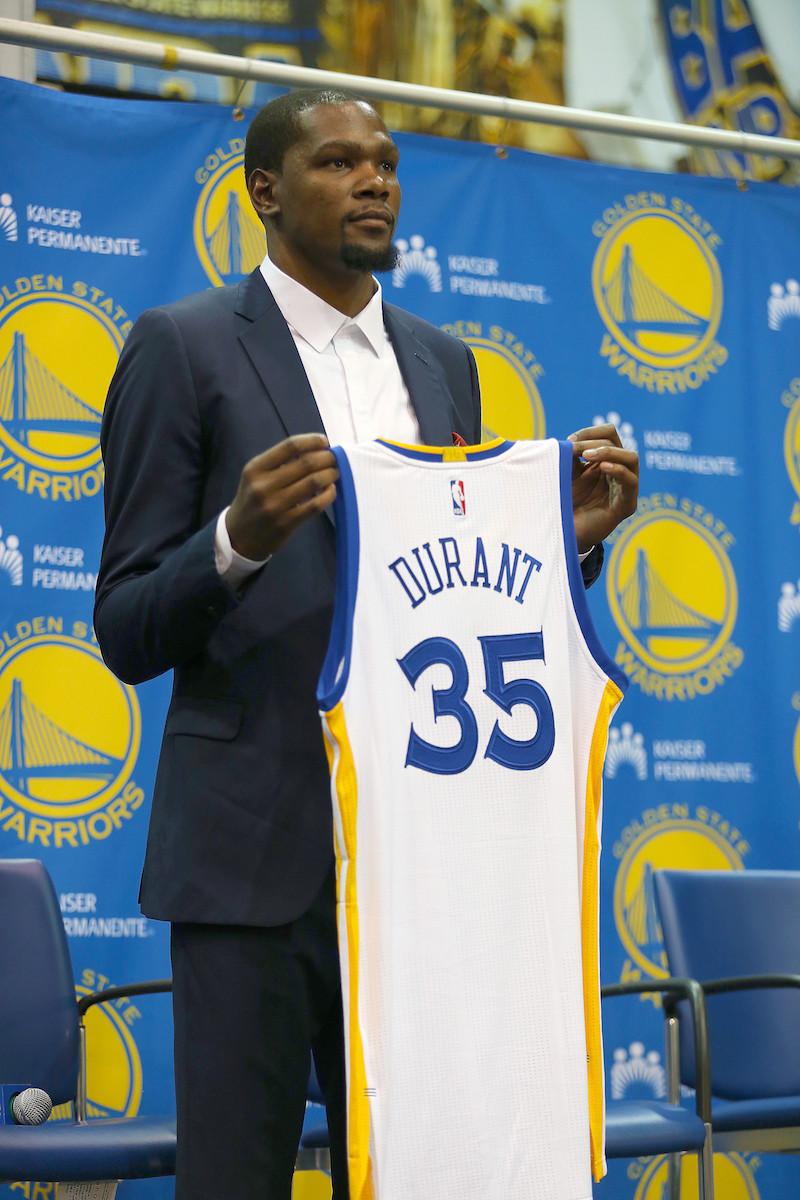 NBA: JUL 07 Golden State Warriors Introduce Kevin Durant