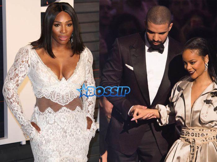 wENN AP Images Serena Williams Drake Rihanna