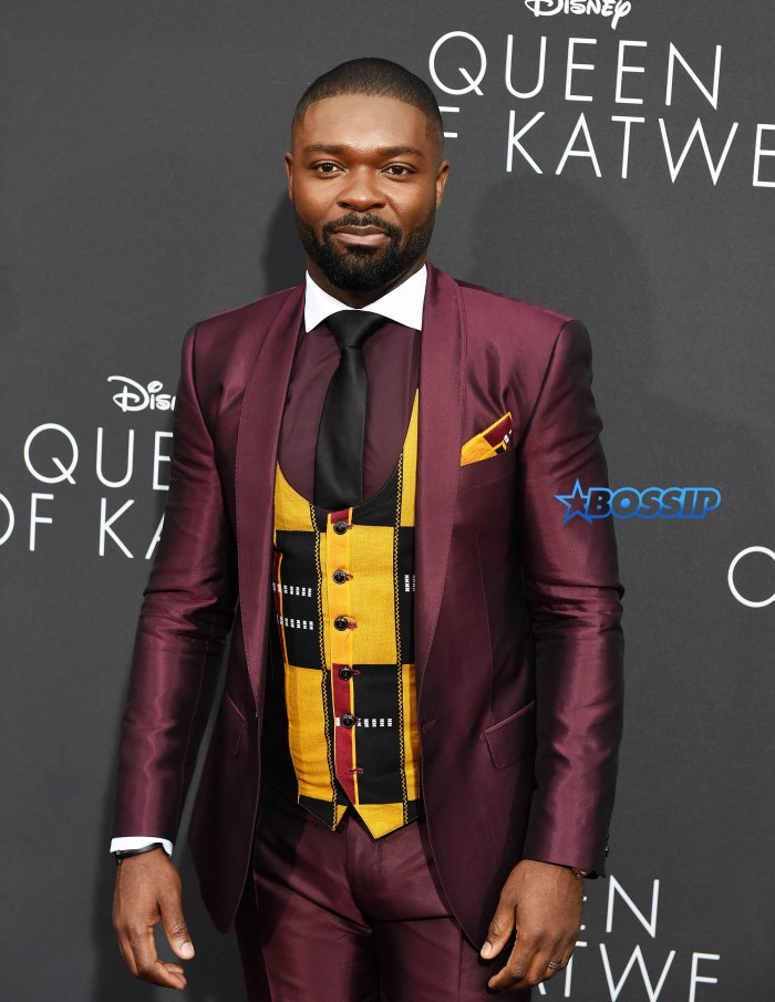 Celebrities attend the 'Queen Of Katwe' premiere in Los Angeles, California. Pictured: David Oyelowo Ref: SPL1358143 210916 Picture by: SAF / Splash News Splash News and Pictures Los Angeles:310-821-2666 New York:212-619-2666 London:870-934-2666 photodesk@splashnews.com