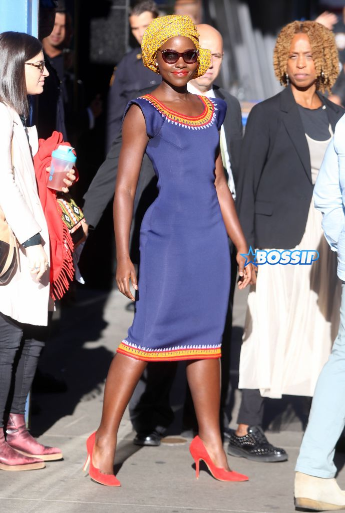 Lupita Nyong'o at 'Good Morning America' in New York City. Pictured: Lupita Nyong'O Ref: SPL1362687 260916 Picture by: Splash News Splash News and Pictures Los Angeles:310-821-2666 New York:212-619-2666 London:870-934-2666 photodesk@splashnews.com