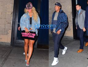 SplashNews Beyonce threw an end of tour party for her full Formation Staff at Bagatelle restaurant 10/3 in NYC