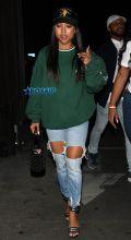 Actress Karrueche Tran Warwick night club in West Hollywood, Los Angeles, SplashNews